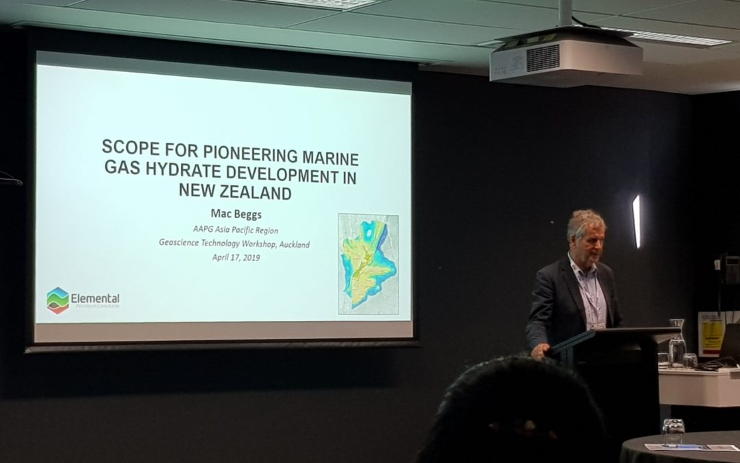 AAPG Geotechnical Workshop on gas hydrates, Auckland 2019